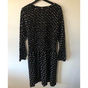 River Island Plus Shirred Polka Dot Mini Dress